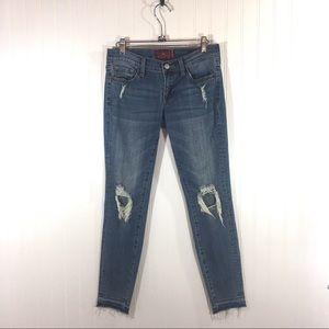 Lucky Brand Charlie Skinny Raw Hem Jeans Sz 26